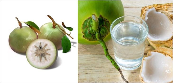 Nguyên liệu làm sinh tố vú sữa dừa