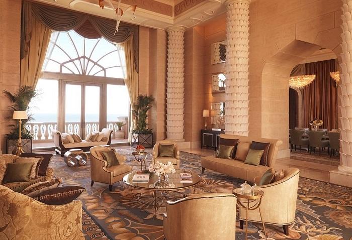 Thiết kế phòng ở khách sạn Atlantis The Palm Dubai