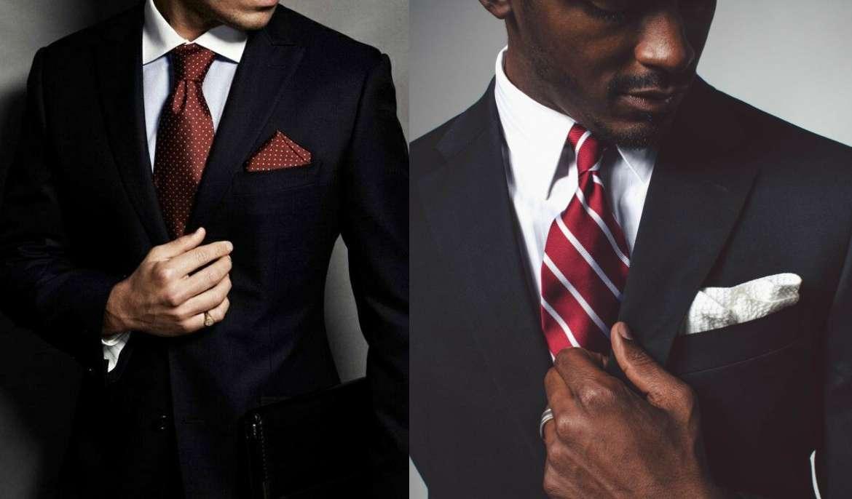 Cà vạt có thiết kế chấm bi hay kẻ sọc có thể kết hợp với áo sơ mi trơn