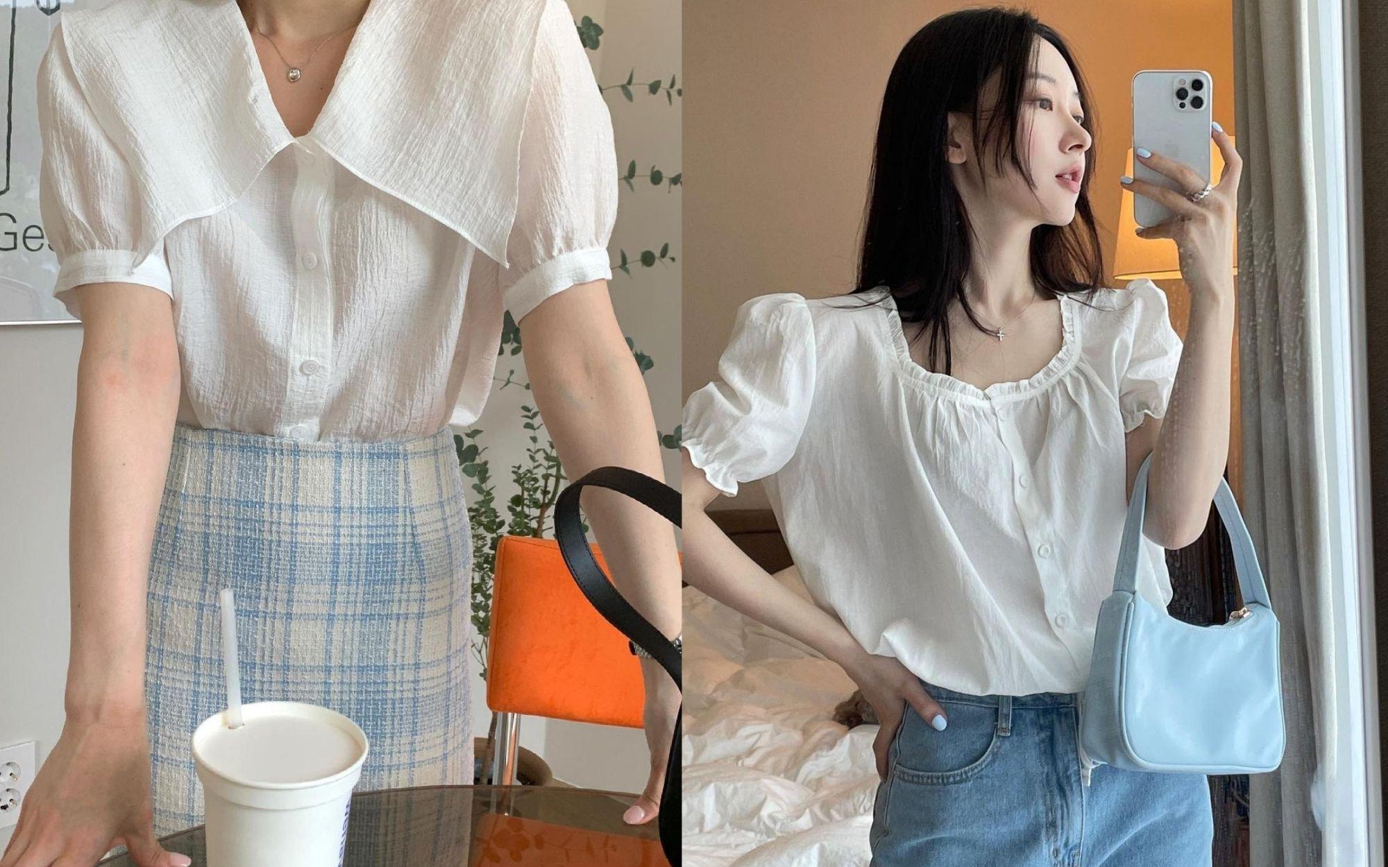 Lựa chọn mua áo blouse tay bồng.