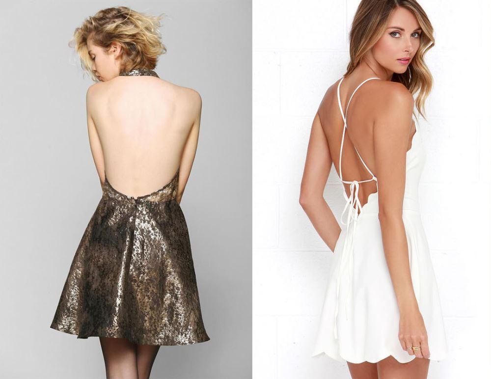 Bạn có thể khéo léo chọn những kiểu áo, váy hở lưng