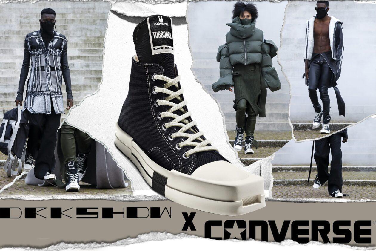 Sự hợp tác mới giữa hai thương hiệu giày nổi tiếng Converse và Rick Owens