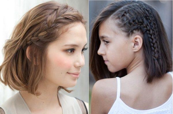 Tết tóc xoắn lệch 1 bên trẻ trung, cá tính