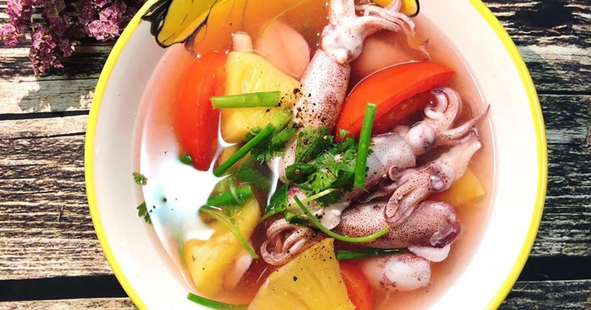 Cách nấu món canh chua mực