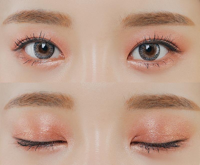 Cách trang điểm mắt màu cam nhạt