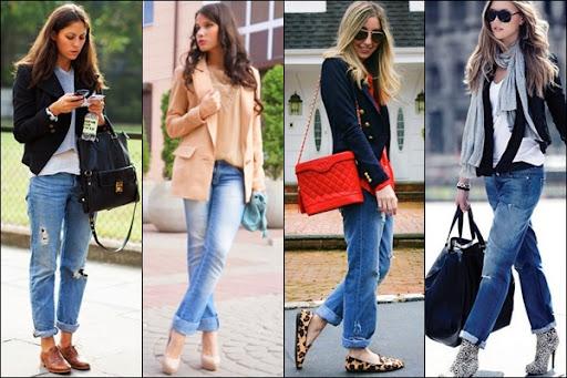 Phối vest cùng quần jeans